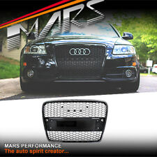 Gloss Black Honeycomb RS Style Bumper Bar Grille Grill for AUDI A6 4F C6 04-11