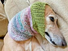 Greyhound Dog Green/Multi Snood 2 Cover Neck **100% Donation 2 Cure K9 Cancer