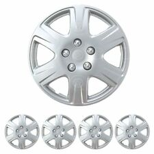 "15"" Inch HubCaps Set of 4 Full Wheel Cover Rim Cap for Steel Wheels OEM Replica"