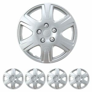 "Set of 4 15"" Inch HubCaps Full Wheel Cover Rim Cap for Steel Wheels OEM Replica"