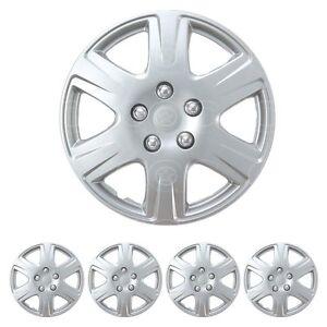 "Set of 4 15"" Inch HubCaps Full Wheel Cover Rim Cap for Steel Wheels OEM Replica"