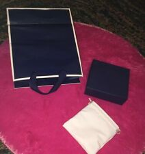 Navy Blue Gift Wrapping Lot 🎁 Small Box + Jewelry Bag & Gift Bag