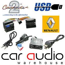Connects2 ctarnusb003 RENAULT KANGOO 2000 onward usb sd aux adaptateur d'interface dans