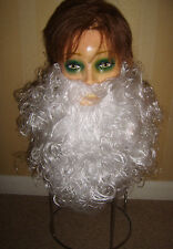 Santa Claus Beard White Budget Christmas Xmas Fancy Dress Costume New