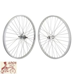 """WHEEL MASTER KT COASTER BRAKE BOLTED 26"""" x 1.5""""  SILVER FRONT AND REAR WHEELSET"""