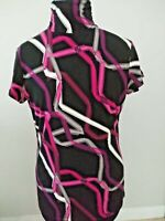 Alfani Women's Tunic/Top Turtle Neck Short Sleeve Polyester/Spandex Size Medium.