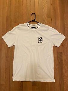 Playboy by PacSun Collar Logo T-Shirt White