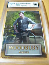 THE WALKING DEAD 2014 WOODBURY ARMORY # WB-07 GRADED 10