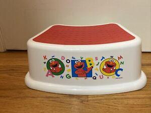 SESAME STREET ELMO Bathroom Kitchen Step Stool for Kids Toddlers