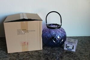 Yankee Candle Purple Lotus Lantern Tea Light Holder  & 12 Tea Lights~Halloween~