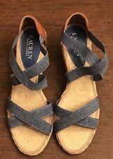 Lauren Ralph Lauren Cortney Espadrille Blue ~ Women Size 8,5