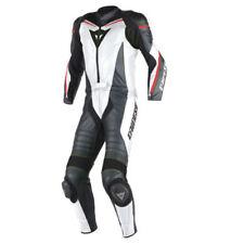 Combinaisons de motocyclette blancs Dainese en cuir