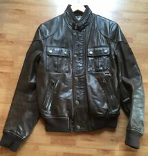 "Belstaff ""Cougar"" Leather Biker Jacket / Gold Label Edition – Brown - Size M"