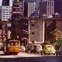 Vintage 1950s California Street Cable Car Andrew Hallidie Postcard San Francisco
