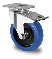 Blue Wheels Lenkrolle 200 mm Anschraubplatte Bremse Rolle Transportrolle