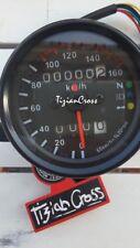 TACHIMETRO CONTAKM chilometri doppio CON SPIE moto cafe racer custom bobber nero