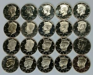 20 Different Dates Kennedy Half Dollar Proof Roll UNC - 181750A