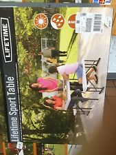Lifetime Folding Picnic Table w/ Benches Brand Spanking New Paid $100