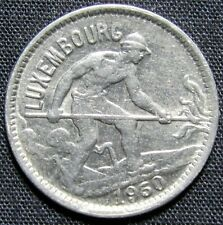 1930 Luxembourg 50 Centimes Nickel Coin