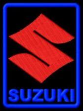 """SUZUKI EMBROIDERED PATCH ~3""""x 2-1/4"""" MOTORCYCLE HAYABUSA INTRUDER M1800R GSXR"""