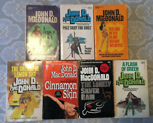 John D. MacDonald - 7 Paperback Lot - 6 Travis McGee Series  + Flash of Green