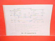 1971 LINCOLN CONTINENTAL MARK III MERCURY MARQUIS MONTEREY FRAME DIMENSION CHART