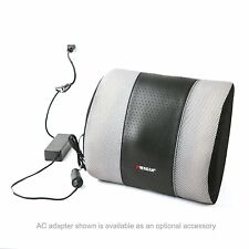 Heated Massage Lumbar Neck Cushion/Car Auto RV Portable Pain Relief Travel Buddy