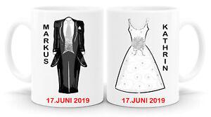 Partnertassen personalisierte Hochzeitstassen Tasse Jahrestag Geschenk Fototasse