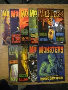 MONSTERS FROM THE VAULT MAGAZINE LOT OF 9 ISSUES VF VARIOUS VOLUMES SEE PICTURE