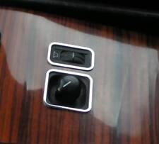 D MB W124 Chrom Rahmen für Spiegelschalter + Überblendregler Edelstahl poliert