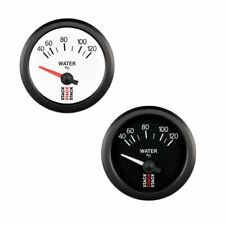 Stack Electrical Water Temperature Gauge - Black Dial Face - 40-120degree Degree