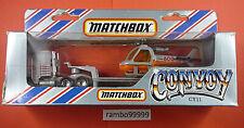 Matchbox Convoy CY 11 Kenworth Hubschrauber Transporter unbespielt in OVP