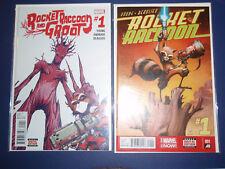 Rocket Raccoon #1 2014 and Rocket Raccoon and Groot #1 Comic Lot. 2016 2 comics