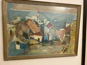 Yaacov Jacob Eisenscher Israeli Artist Framed Original Art Work Signed