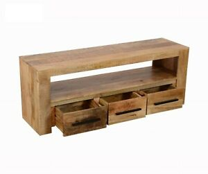 MADE TO ORDER AVALON INDIAN WOODEN ZEN MANGO RUSTIC T.V CABINET L 145x40x55