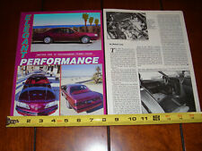 1987 FORD THUNDERBIRD TURBO COUPE - ORIGINAL 1987 ARTICLE