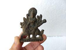 1800 Vintage Brass Statue of Divine Goddess Devi Durga Maa  Navratri Diwali