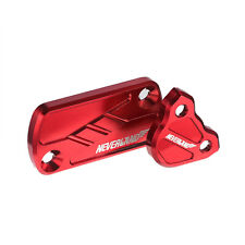 Red CNC Front Rear Brake Reservoir Fluid Cover Cap For Honda CR250R/125R CRF150R