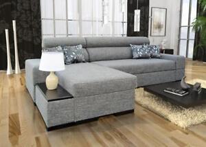 Kleines Ecksofa Wohnlandschaft Less Abstellfläche Polstersofa Couch Sofa 26
