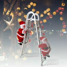 Adorable Electric Climbing Ladder Santa Claus Gift Music Xmas Tree Doll Ornament