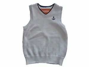 NWT Boy's Gymboree Picture Day white sweater vest ~ 5 6 FREE SHIPPING!