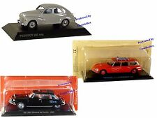 Prize of 3 French Cars CITROEN DS19  DE GAULLE ID20 Fireman PEUGEOT 203 1954