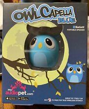 My Audio Pet Owl Capella Blue Mini Portable Bluetooth Speaker