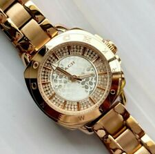 Coach watch rose gold tone with crystals ladies womens watch 2