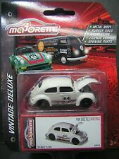 Majorette 1:64 Metal DieCast model Vintage Deluxe car - VW Beetle Racing