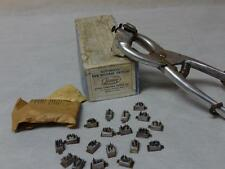 Early 1940s 1950s farming steer cow tattoo ear tool tattooer!