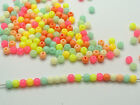 1000 Mixed Pastel Color Acrylic Round Beads 4mm Smooth Ball Spacer