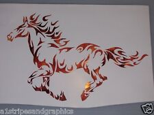 Mustang Tribal Flame Horse pony Window Decal Decals Trailer Sticker Graphics