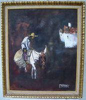 THE DONKEY RIDER - ORIGINAL OIL ON CANVAS - SIGNED & FRAMED