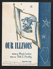 Our Illinois 1956 Sheet Music